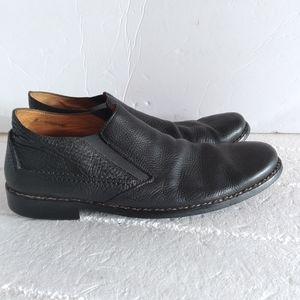 John Varvatos leather slip on shoes
